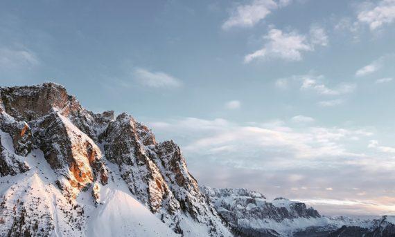 Duurzame ansichtkaart bergtop Dolomieten Trentino Alto Adige