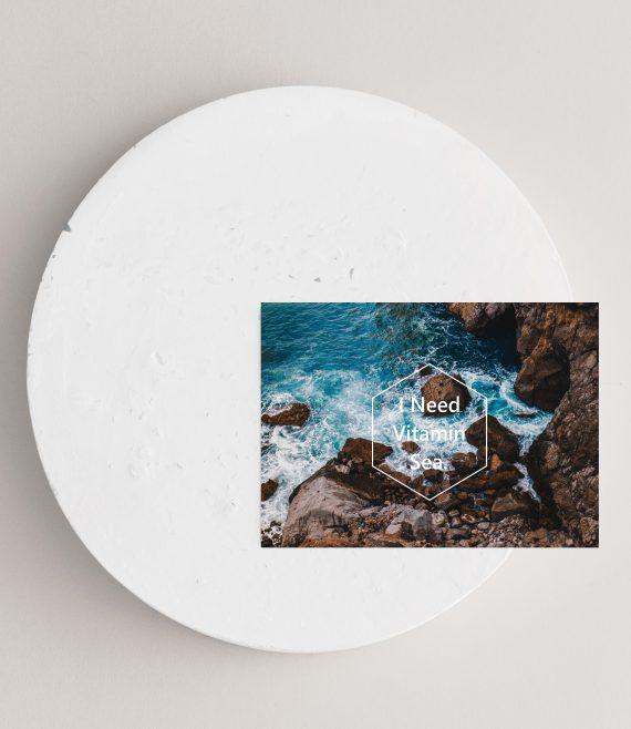 Fotokaart met natuurfotografie voor strandliefhebbers
