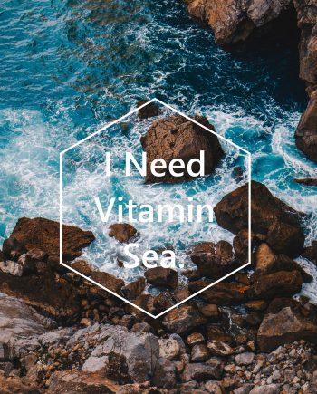 ansichtkaart voor strandliefhebbers I need vitamin sea
