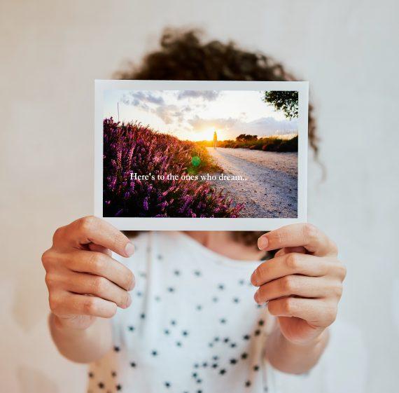 fotokaart voor alle dromers onder ons