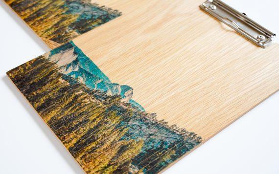 Handgemaakt eikenhouten klembord