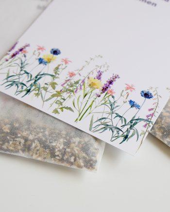 duurzame kaart met bloemzaadjes