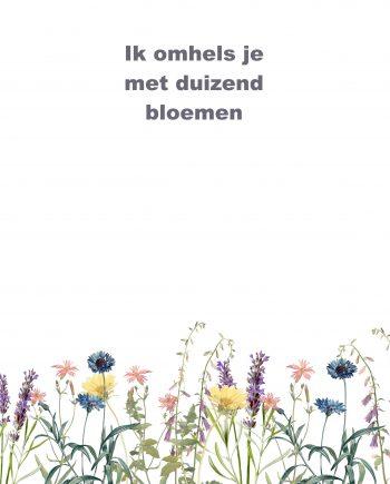 Duurzame bloemenkaart