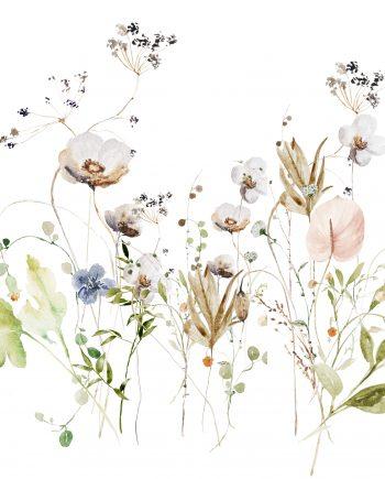 wild flowers art print met ophangsysteem