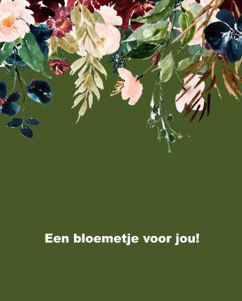 Duurzame kaart een bloemetje voor jou