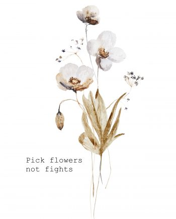 Duurzame kaart pick flowers not fights