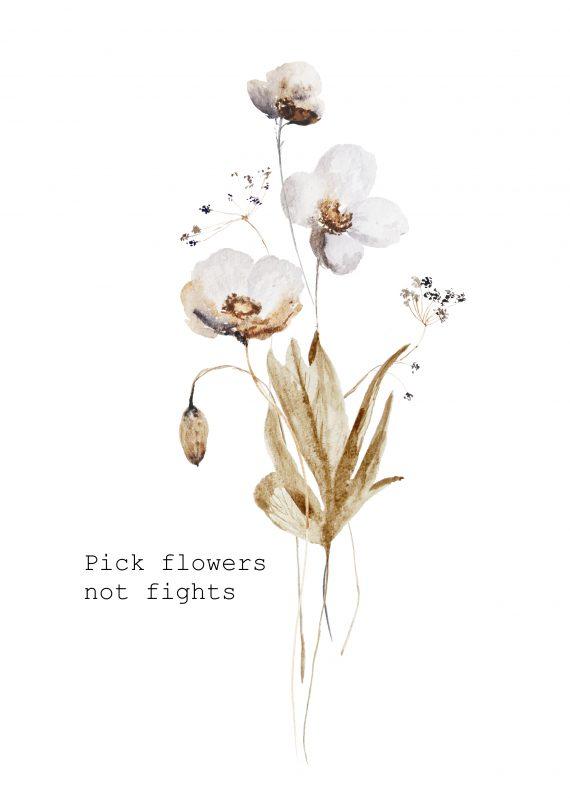 Duurzame kaart pick flowers not fights