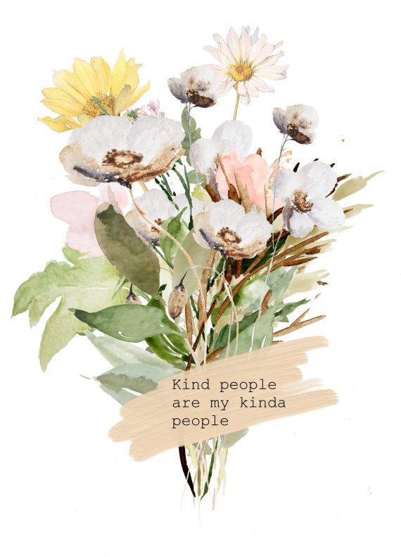 duurzame kaart wilde bloemenboeket