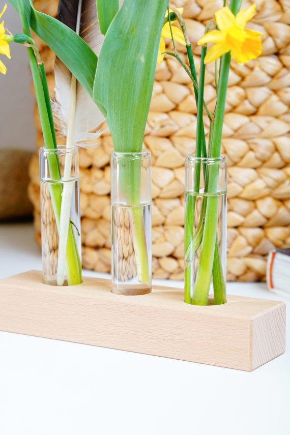 houten houder voor plukbloemen
