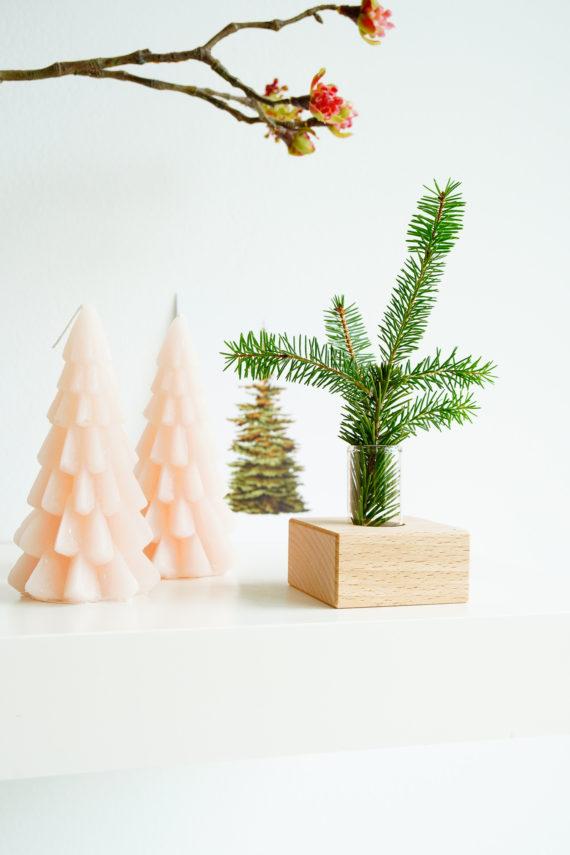 Houten houder voor de kerst