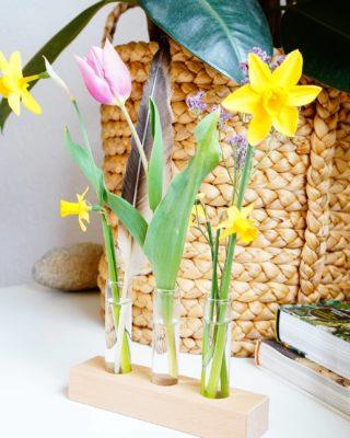 PLUKBLOEMEN 💛 Langzaamaan komen er steeds meer bloemen in de tuin! My favorite season, spring! Deze narcissen, de tulp en bloemetjes hebben een fijn plekje in de woonkamer gekregen in de houten houder #dutchdesign 🙌 natuurlijk Wil jij jouw plukbloemen ook een mooi plekje geven? De houders met flesjes kan je vanaf vandaag in onze shop vinden. . . . . . . #mookstories #duurzaamondernemen #duurzamewebshop #plukbloemen #veldbloemen #interieurstyling #wooninspiratie #hout #wildebloemen #ecoshop #duurzaamshoppen #nieuwecollectie #lente #liefleven #mamablog #lieverdanlief #interior #hygge #binnenkijken #tuininspiratie #tuinieren #buitenleven #outsideisfree #woongeluk #bloemenmeisje #bloemen #colorfulliving #kleurrijkwonen #tulpen